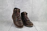 Подростковые ботинки кожаные зимние коричневые-матовые Yuves 783, фото 1