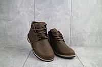 Подростковые ботинки кожаные зимние коричневые-матовые Yuves 782, фото 1