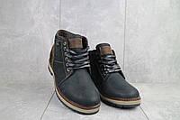 Мужские ботинки кожаные зимние черные Falcon 6220, фото 1