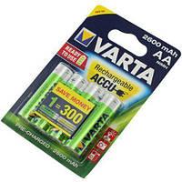 Аккумулятор АА аккумуляторные батарейки VARTA 2600mAh AA Ready 2 Use ACCU 4 шт