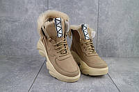 Женские ботинки кожаные зимние бежевые Best Vak БЖ 52-704, фото 1