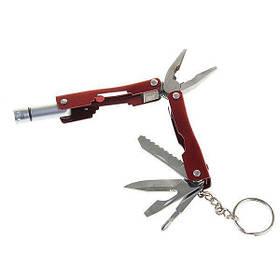 Мультитул фонарик плоскогубцы нож 9-в-1 HLV R16626