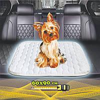Многоразовая пеленка для собак 60х90 см непромокаемая БЕЛАЯ