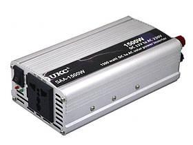 Инвертор автомобильный преобразователь напряжения UKC 12V-220V 1500W
