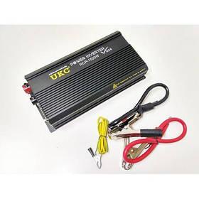 Інвертор автомобільний професійний перетворювач напруги UKC 12V-220V RCP-1500W