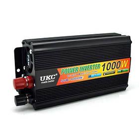 Інвертор автомобільний перетворювач напруги UKC 12V-220V 1000W