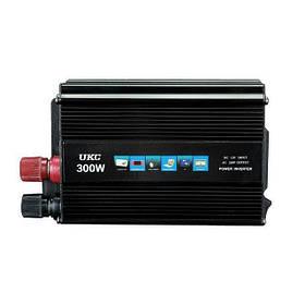 Инвертор автомобильный преобразователь напряжения UKC 12V-220V 300W