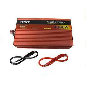 Інвертор автомобільний перетворювач напруги з функцією плавного пуску UKC 24V-220V AR 4000W