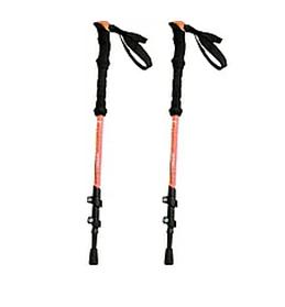 Палки для скандинавской ходьбы облегченные HLV 5244 2 шт Orange