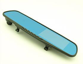 "Зеркало-видеорегистратор заднего вида Vehicle Blackbox DVR L 9000 FullHD 4.3"" c двумя камерами"