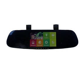 Зеркало-видеорегистратор заднего вида DVR CT600 с Android, WiFi и GPS 2 камеры