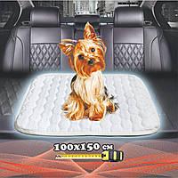 Многоразовая пеленка для собак 100х150 см непромокаемая БЕЛАЯ