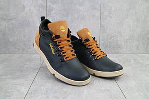 Мужские ботинки кожаные зимние синие-рыжие T18 Lions