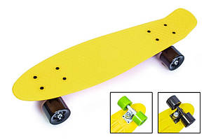 """Пенни борд скейт 22"""" желтый"""