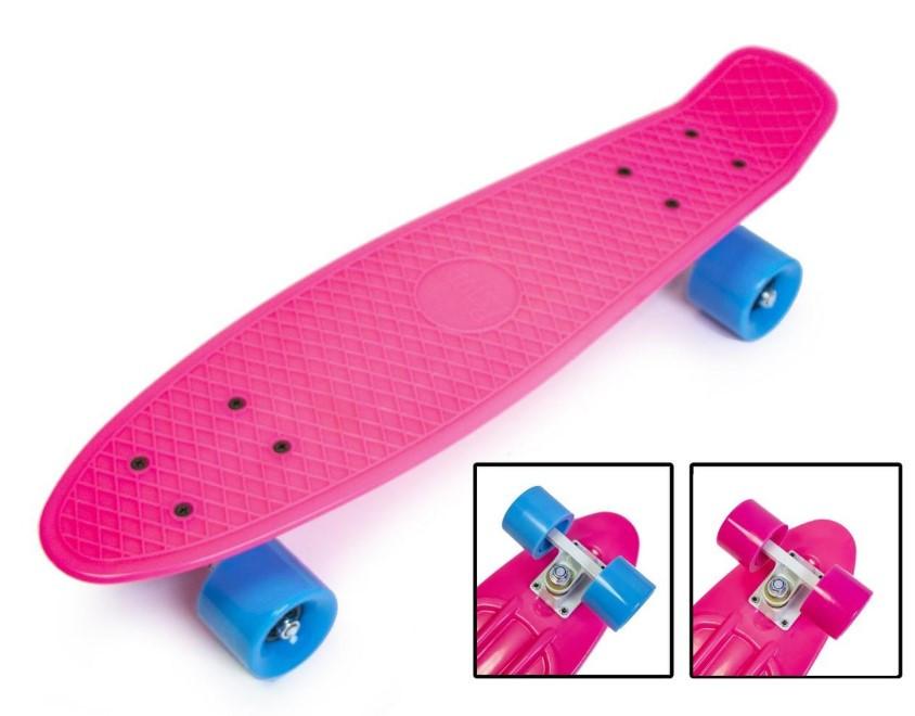 "Пенни борд скейт 22"" малиновый"