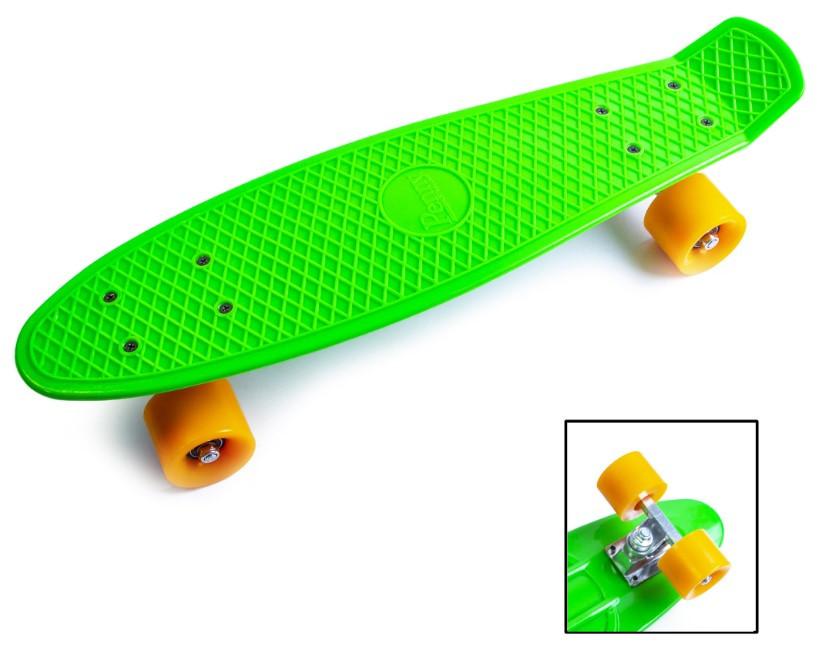 "Пенни борд скейт 22"" салатовый"
