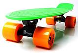 "Скейт скейтборд пенни борд 22"" салатовый, фото 4"