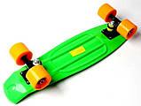 "Скейт скейтборд пенни борд 22"" салатовый, фото 6"