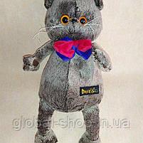 Котик Басик джентельмен или кошечка Лилли на выбор . Кот Басик с бабочкой мягкая игрушка. 35 см, фото 5