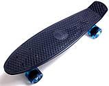 """Скейт скейтборд пенни борд 22"""" синий, фото 2"""