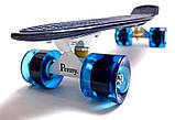"""Скейт скейтборд пенни борд 22"""" синий, фото 3"""