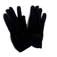 Перчатки вязанные черные зима