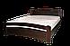 Кровать двуспальная полуторная Агата из массива дерева, Киев, фото 2