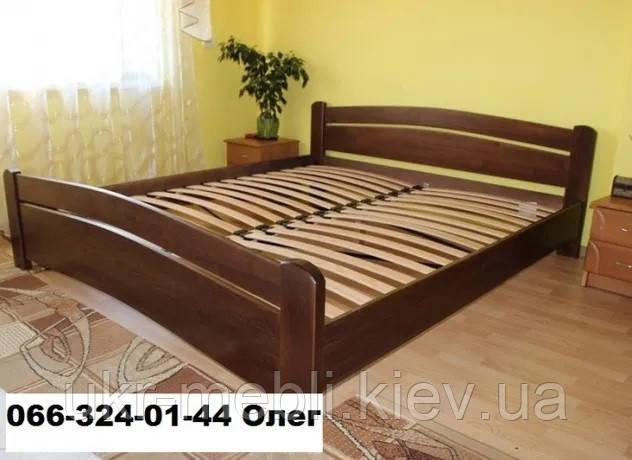 Кровать двуспальная полуторная Агата из массива дерева, Киев