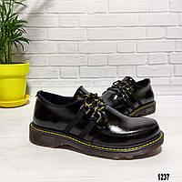 Женские кожаные туфли без каблука, фото 1