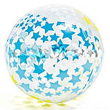 Детский надувной бассейн Intex 59460 Звезды 122 х 25 см надувным кругом и мячом, фото 3
