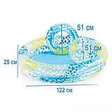 Детский надувной бассейн Intex 59460 Звезды 122 х 25 см надувным кругом и мячом, фото 4