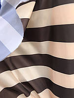 Ткань палаточная Оксфорд 150g бежево-коричневая полоска Oxford