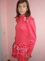 """Платье """"Цветочек""""коралл.Детская одежда для девочек."""