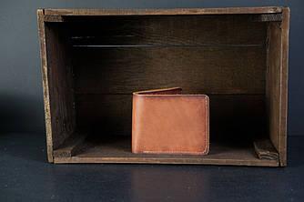 Портмоне классика с монетницей кожа Итальянский Краст цвет Коричневый