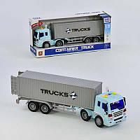 Машина Трейлер грузовой инерционная со звуковыми и световыми эффектами - 223797