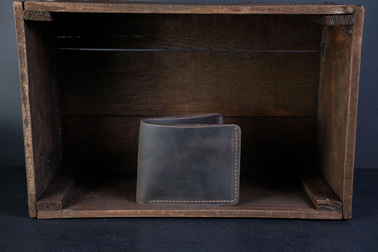 Портмоне класика з монетницею Вінтажна шкіра колір Шоколад