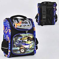 Рюкзак школьный каркасный с 1 отделением и 3 карманами, спинка ортопедическая, 3D принт - 186098