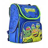 """555120 Рюкзак шкільний каркасний 1 Вересня H-11 """"Turtlels"""", фото 2"""
