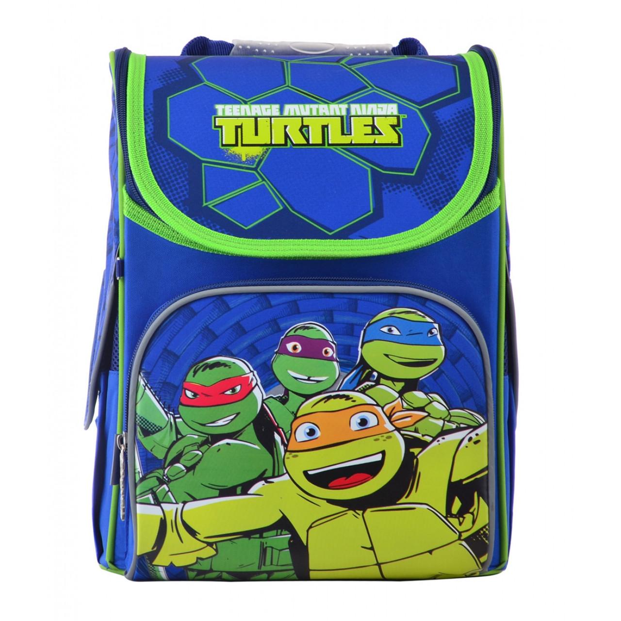 """555120 Рюкзак шкільний каркасний 1 Вересня H-11 """"Turtlels"""""""