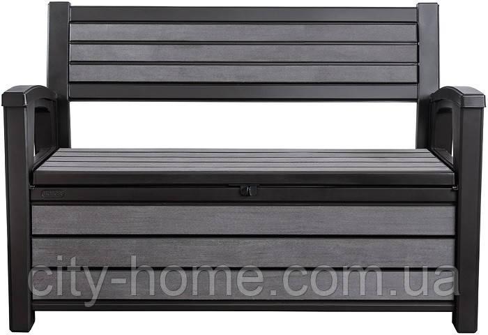 Скамейка-сундук Keter Hudson Bench 227 л антрацит