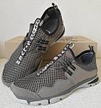 Silver active мужские летние кожаные туфли кроссовки сетка легкие и удобные, фото 4