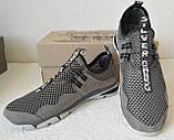 Silver active мужские летние кожаные туфли кроссовки сетка легкие и удобные, фото 6