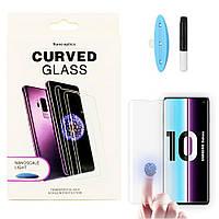 Захисне скло Curved Glass для Samsung Galaxy S10 Full Glue Прозоре (Рідкий клей + УФ лампа)