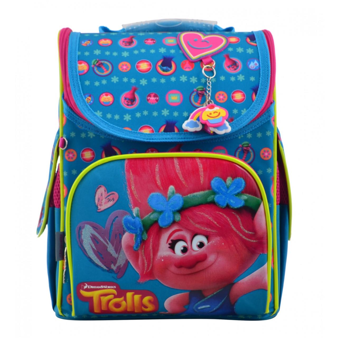 """555162 Рюкзак шкільний каркасний 1 Вересня H-11 """"Trolls"""""""