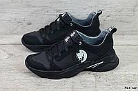 Мужские кожаные кроссовки Pitbull (Реплика) (Код: R21 чер  )  ► Размеры в наличии ► [44], фото 1