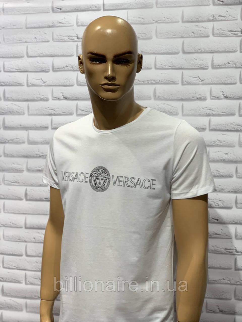 Футболка чоловіча Versace Репліка Білий