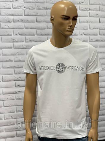 Футболка чоловіча Versace Репліка Білий, фото 2
