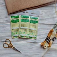 Иглы для вышивания с золотым ушком №24 Clover