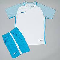 Спортивный комплект формы для команд - 479378309 Бело-голубой, XXL