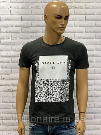 Футболка чоловіча Givenchy Репліка Антрацит, фото 2